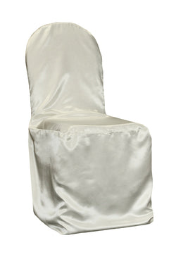 Satin Banquet Chair Cover - Ivory