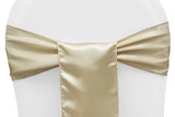 Satin Chair Sashes - Pewter