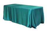Satin Rectangular Table Linens - Silver