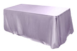 Satin Rectangular Table Linens - Coral