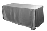 Satin Rectangular Table Linens - Black