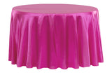 Satin Round Table Linens - Chocolate Brown