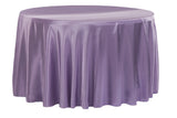 Satin Round Table Linens - Ivory
