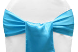 Satin Chair Sashes - Baby Blue