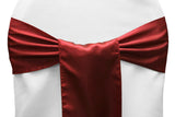 Satin Chair Sashes - Red