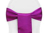 Satin Chair Sashes - Plum