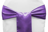 Satin Chair Sashes - Magenta Violet