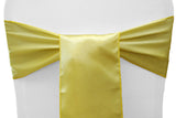 Satin Chair Sashes - Jade