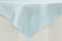 Satin Table Overlay - Baby Blue