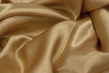 Satin Rectangular Table Linens - Blush/Rose Gold