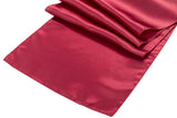 Satin Table Runners - Coral