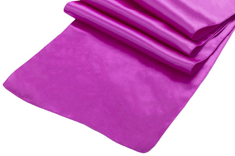 Satin Table Runners - Magenta Violet