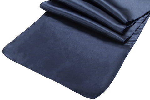Satin Table Runners - Navy Blue