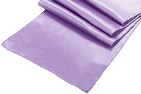 Satin Table Runners - Victorian Lilac