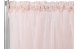 Sheer Voile Drape/Backdrop -Blush/Rose Gold