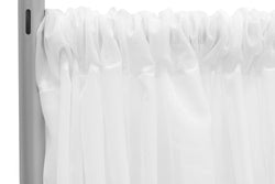 Sheer Voile Drape/Backdrop - White