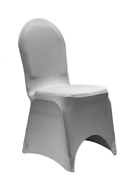 Spandex Stretch Chair Covers - Silver