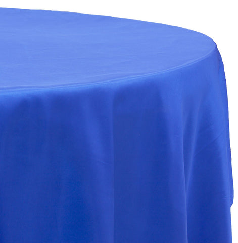 Taffeta Round Table Linen - Royal Blue