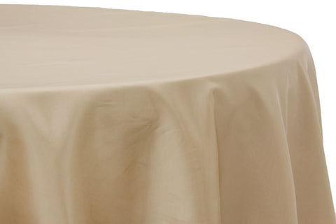 Taffeta Round Table Linen - Champagne