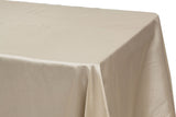 Taffeta Rectangle Table Linen - Ivory