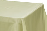 Taffeta Rectangle Table Linen - Champagne