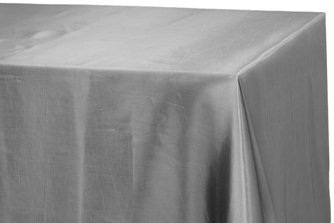 Taffeta Rectangle Table Linen - Silver