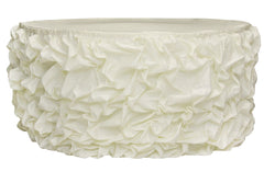 Gathered Table Skirts - Ivory