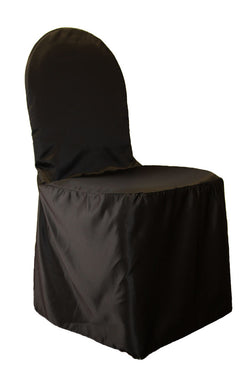 Lamour Satin Banquet Chair Cover - Black