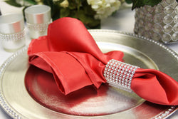 Lamour Satin Napkin - Guava Red