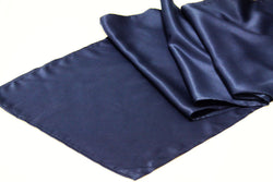 Lamour Satin Runner - Navy Blue