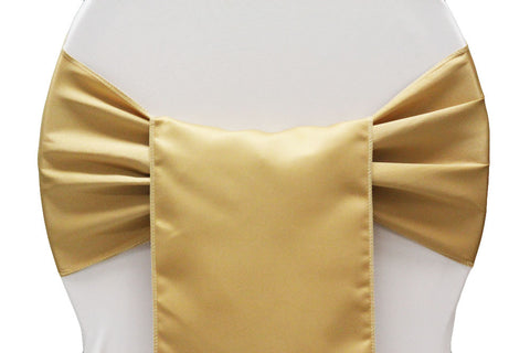 Lamour Satin Chair Sashes -Gold