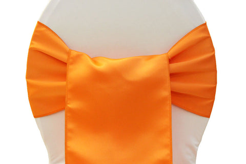 Lamour Satin Chair Sashes - Orange