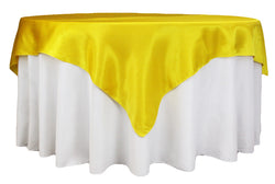Satin Table Overlay - Canary Yellow