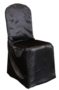 Satin Banquet Chair Cover - Black