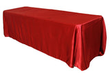 Satin Rectangular Table Linens - Magenta/Violet