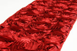 Satin Rosette Table Runner - Pewter