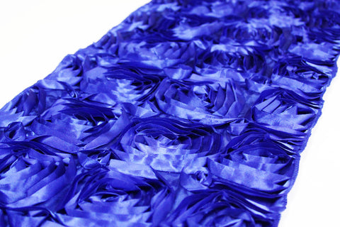 Satin Rosette Table Runner - Royal Blue