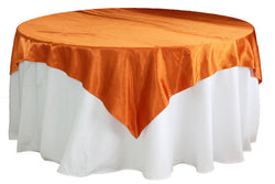 Satin Table Overlay - Burnt Orange