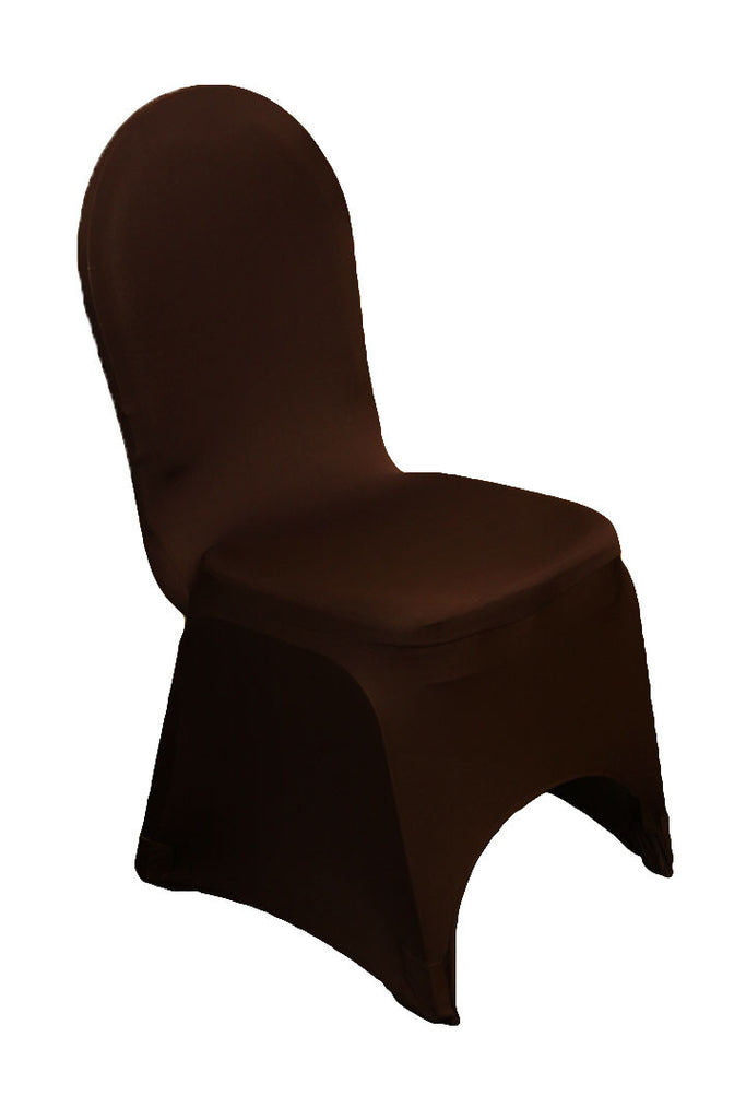 spandex stretch chair covers chocolate