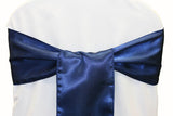 Satin Chair Sashes - Navy Blue