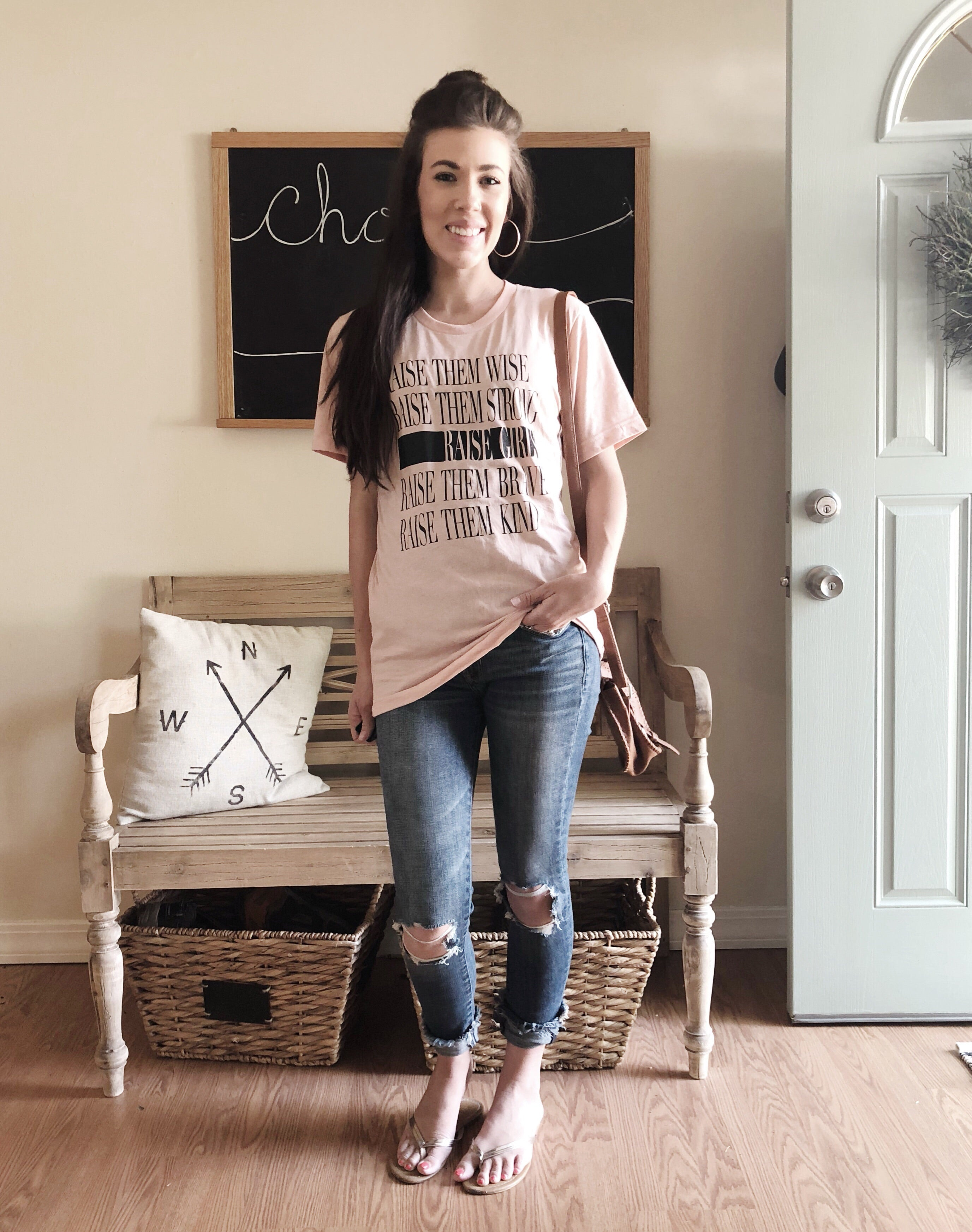 Raise Girls Tee -Peach