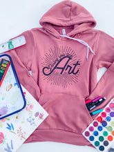 Load image into Gallery viewer, Darling You are Art- Mama Hoodie in Rose