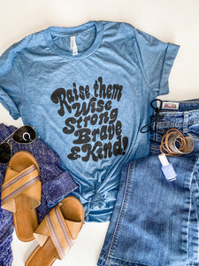 Raise Them Tee in Denim