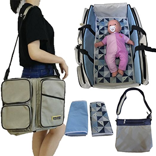 3 in 1 Diaper Bag Travel Bassinet Baby Changing Station