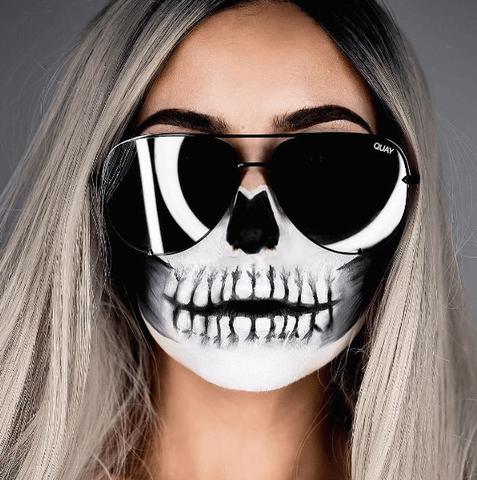 Skull Makeup with Quay High Key