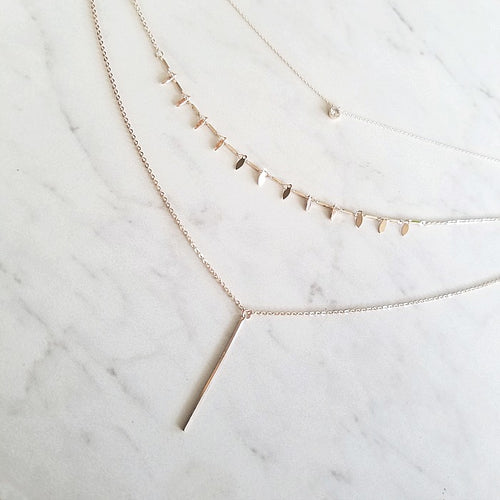 Triple Layered, Rose Gold Necklace | 8 Other Reasons