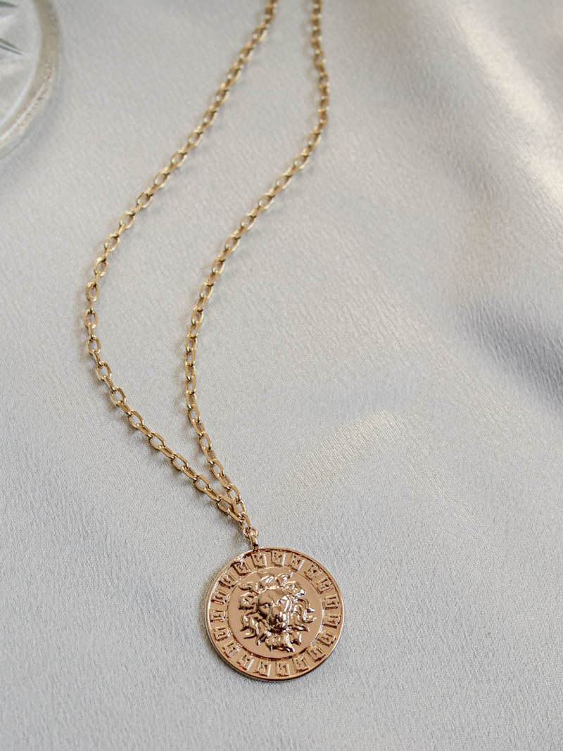 Anna Gold Lion Pendant Necklace