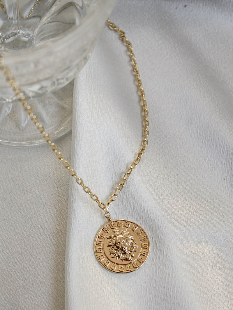 Lion Pendant Necklace by The Obcessory