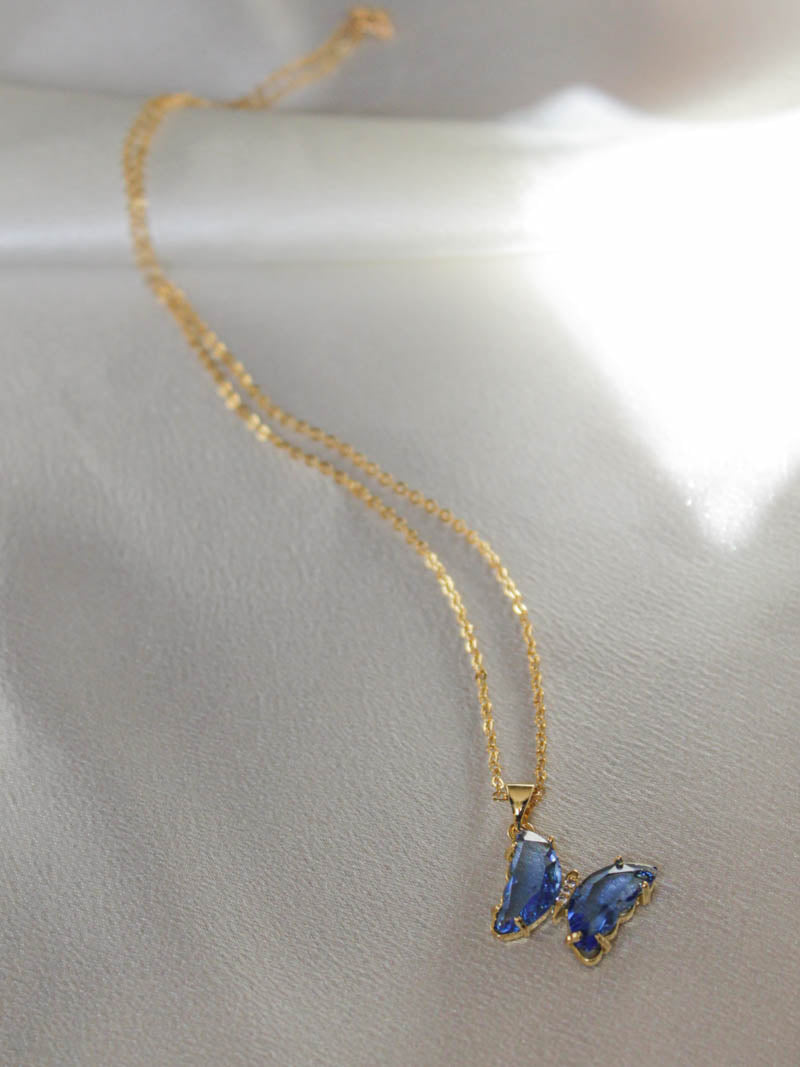 Blue Butterfly Necklace | The Obcessory