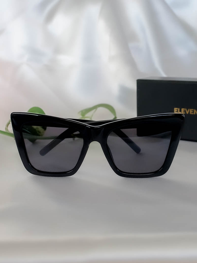 Black Hangover Sunglasses by Eleventh Hour